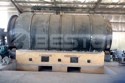 La planta de pirólisis de neumáticos de desecho BLJ-16 instalada en Jordania