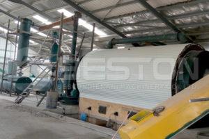 Beston BLJ-16 محطة التحلل الحراري لإطارات النفايات المركبة في الأردن