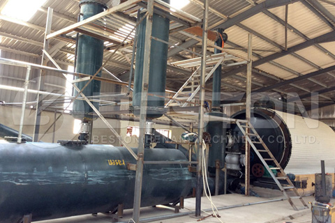 Beston Waste Tyre Pyrolysis Plant Installed in Jordan