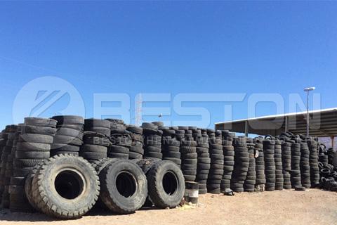 Desechos de neumáticos en Jordania