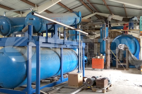 BLJ-16 Waste Tyre Pyrolysis Plant Installed in Hungary