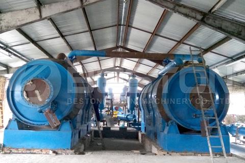 Beston BLJ-16 Waste Tyre Pyrolysis Plant Installed in Hungary