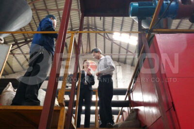 Customer from Malaysia Visited Beston Biomass Pyrolysis Plant Factory