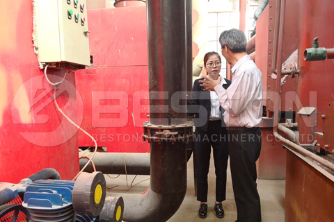 Customer from Malaysia Visited Biomass Pyrolysis Plant Factory