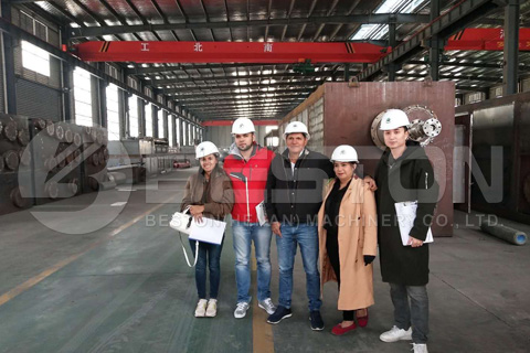 Customers from Columbia Visited Beston in April