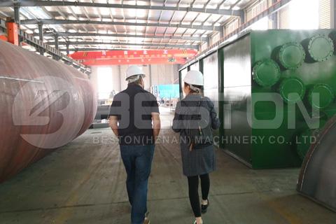 UK Customer Checked Beston Pyrolysis Plant Factory