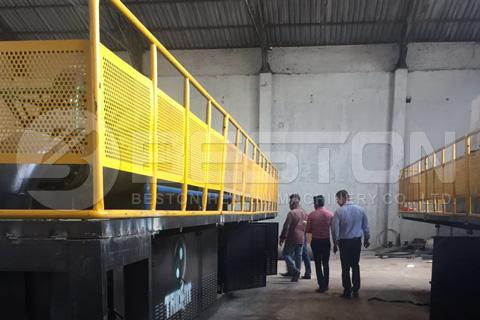 Instalación de la planta de pirólisis continua Beston en Sudáfrica