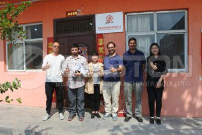 Chile Customers Visited Beston Biochar Making Machine Factory