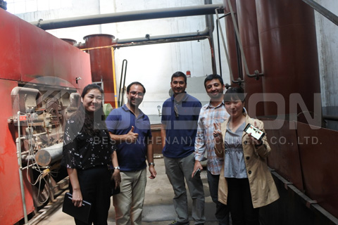 Chile Customers Visited Beston Biochar Making Machine