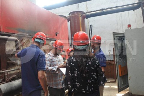 Chile Customers Visited Beston Charcoal Making Machine
