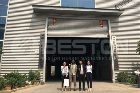 Nigerian Customer Visited Beston During May 25 and May 27