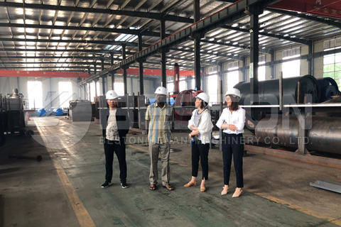 Nigerian Customer Visited Beston Pyrolysis Plant Factory