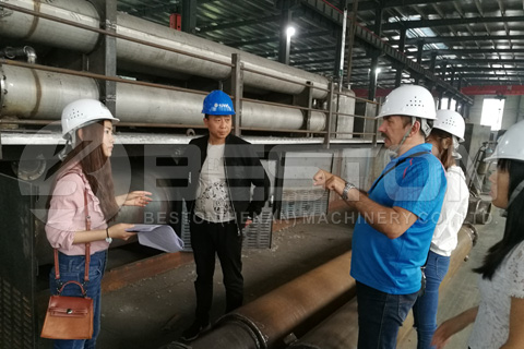 Russian Customer Visited Beston Pyrolysis Plant Factory