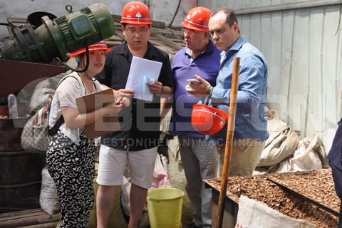 Spanish Customers Visited Beston Carbonization Machine Factory