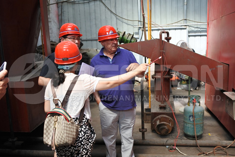 Spanish Customers Visited Beston Charcoal Machines