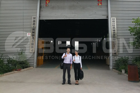 US Customer Visited Beston Factory