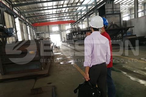 US Customer Visited Beston Waste Recycling Plant