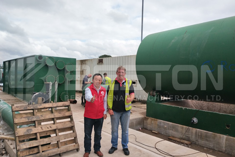 Beston Waste Tyre Pyrolysis Plant in the UK