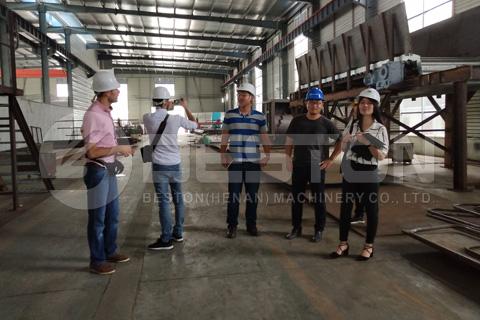 Customers from Lebanon Visited Beston Machinery