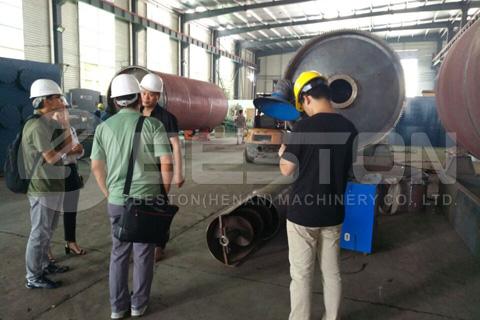 Singapore Customers Visited Beston Factory