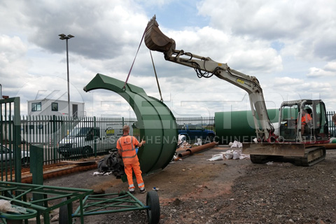 La planta de pirólisis de neumáticos comienza a ensamblarse en el Reino Unido