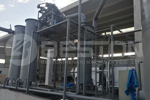Beston Charcoal Making Machine Assembled Completely in Turkey