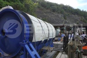 Beston مصنع الانحلال الحراري للمطاط BLJ-16 مُركب في كوريا الجنوبية