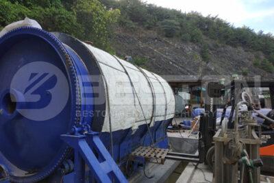 Beston BLJ-16 Rubber Pyrolysis Plant Installed in South Korea
