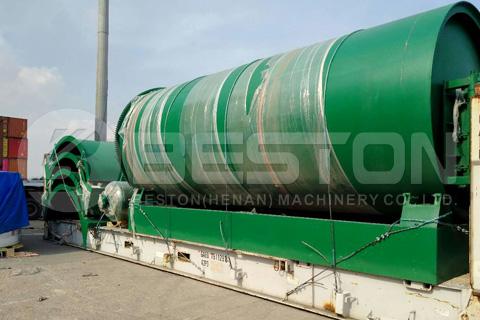 La máquina de pirólisis de Beston se envía a Canadá