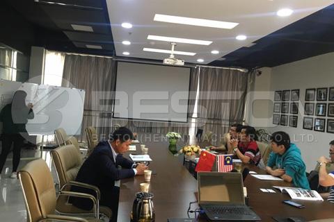 Malaysian Customers Visited Beston Company