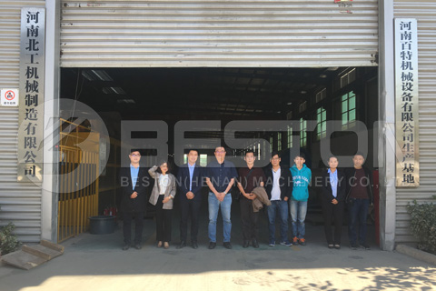 Malaysian Customers Visited Beston Continuous Pyrolysis Plant