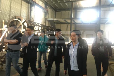Malaysian Customers Visited Beston Pyrolysis Plant Factory