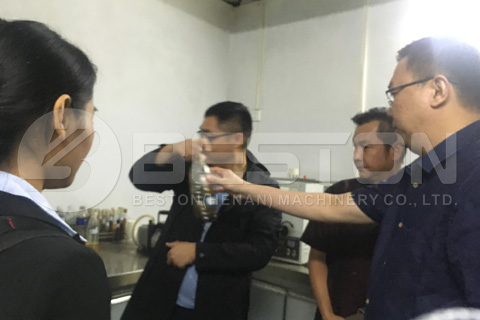Malaysian Customers Visited Beston Pyrolysis Plant