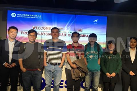 Malaysian Customers Visited Continuous Pyrolysis Plant