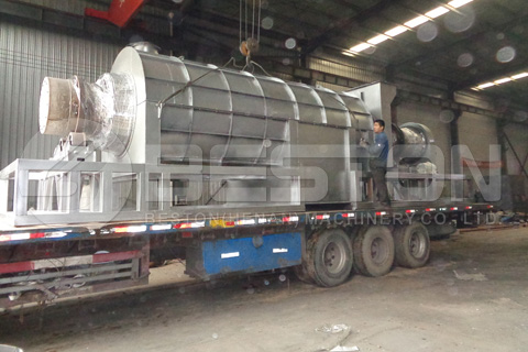 BST-12 Palm Shell Charcoal Machine Shipped to Ghana