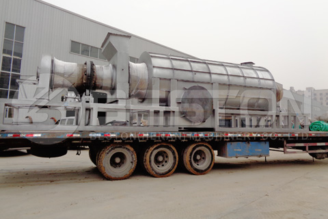 BST-12 Palm Shell Charcoal Making Machine Shipped to Ghana