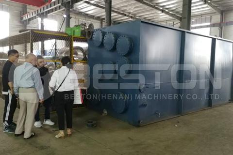 Bangladeshi Customers Visited Beston Pyrolysis Plant