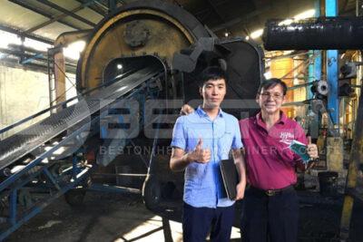 Beston BLJ-10 Pyrolysis Plant Running Well in Indonesia