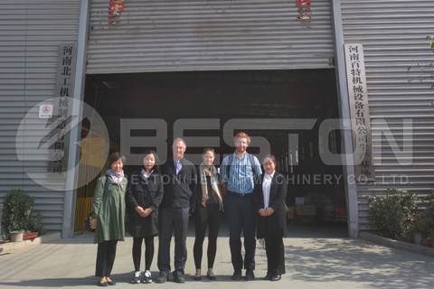 Customers from Australia Visited Beston Newly-designed Pyrolysis Plant
