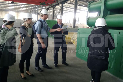 Customers from Australia Visited Beston Pyrolysis Plant