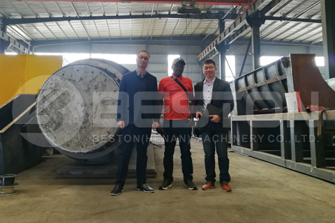 Kenya Customer Visited Beston Carbonization Machine