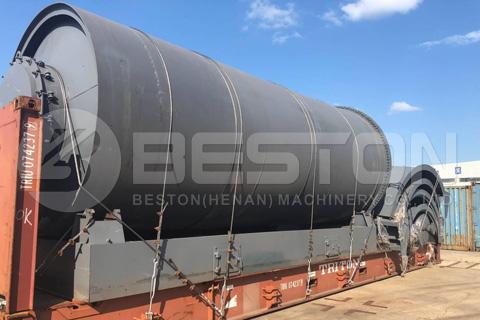La planta de reciclaje de neumáticos BLJ-16 se envía a Sudáfrica