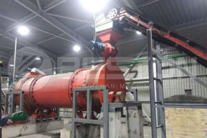 Beston BST-50 Sawdust Charcoal Making Machine Installed in Ukraine