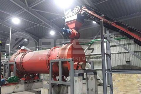 Beston BST-50 Sawdust Charcoal Making Machine Installed in Ukraine