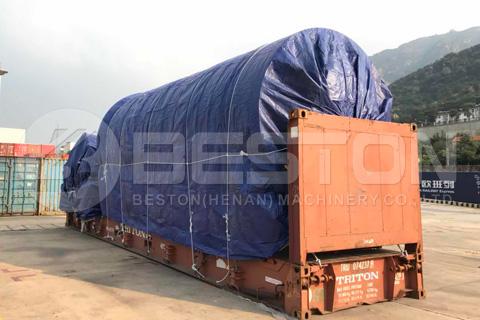 Envío de la planta de reciclaje de neumáticos Beston a Sudáfrica