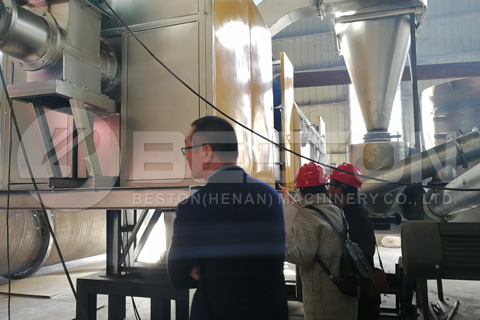 Customers Checked the Detailed Constitution of Beston Charcoal Machine