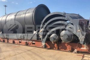 مصنع إعادة تدوير الإطارات يتم شحنه إلى جنوب إفريقيا