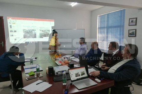 Beston Team's Presentation about Our Pyrolysis Plant