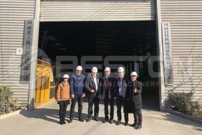 Müşteriler ve Satış Görevlileri Önünde Beston Piroliz Fabrikası