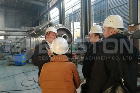 Hungarian Customers Visited Beston Pyrolysis Plant